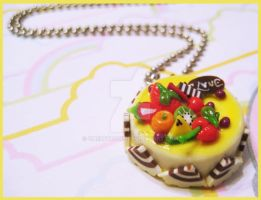 Fruit Cake Necklace by cherryboop