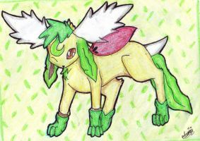 CE: Leafeon Cosplay Skymin by Airmon