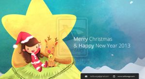 Merry Christmas and Happy New Year -IsellaVega by childrensillustrator