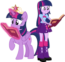 Twilight Sparkle y Twilight Sparkle by Fluttershy78