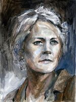 Carol The Walking Dead Sketch Card by Stungeon