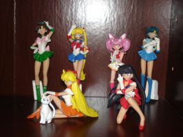 Sailor Moon Figurines by Puja723