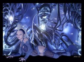 Aiko in cyberspace by Aral3D