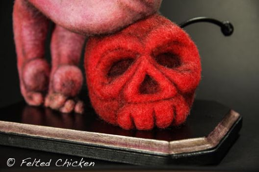 Pink Cthulhu Detail by AlwaysSuagarCoated