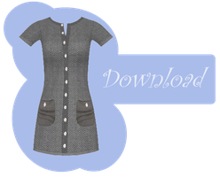 [MMD] BUTTON DRESS [+DL] by Sims3Ripper
