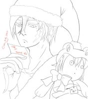 Santa Xanxus and Belphegor's List by littlemissmarikit
