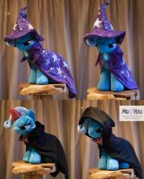 The great and powerful Plush Trixie Outfits by meplushyou