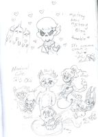 other OCs and mine by Kittychan2005