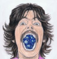 The whole universe in George Harrison's mouth by gagambo
