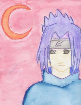 Sasuke watercolor by Scarlet-Sky1