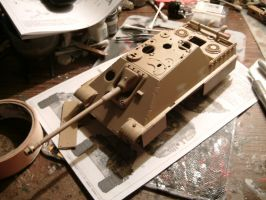 Tamiya 1/35 Jagdpanther late wip 3.5.2 by DelosQAndrews
