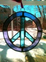 Peace Sign Glass by DominaMoon