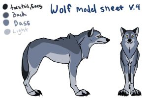 Wolf Model Sheet by SadWhiteRaven