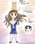 Fruits Basket: Tohru and Kitty by dragon-sigma