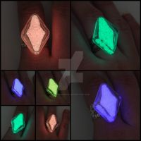 Shoot these again! Glowing Elvish Rings by ArchandSoul