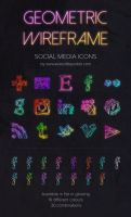 Geometric Wireframe Social Media Icons by everylittlepolish