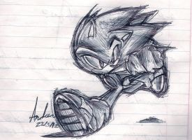 sonic doodle by andreahedgehog