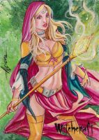 Witchcraft Sketch Card - Alcione Silva 3 by Pernastudios