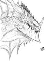 Deathwing rough sketch by Jay--Zilla
