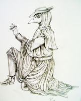 Plague Doctor by Karmikosmic