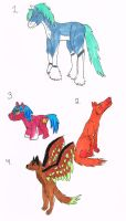 Random adoptables sheet 1 (open) FREE by XTwilight-SerenityX