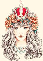Girl with crown by AnALIBI