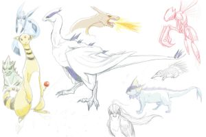 Pokemon Sketches by lieusum