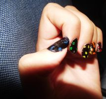 Rainbow nails by Alicss