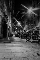 Street in Bergamo by qwstarplayer