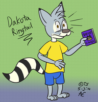 Dakota Ringtail Character Concept by Thyloguy
