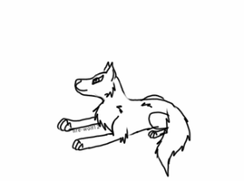 free husky lineart by Meeka-The-Fire-Wolf