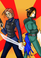 Officer Jenny and George by DaffydWagstaff