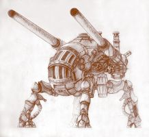 Steampunk Mech III by likaspapaya