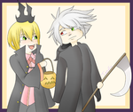 wow blazblue halloween ghey stuffsa by Takoto