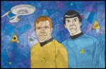 Kirk and Spock in Stained Glass by jmascia