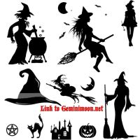 Witch and Halloween brushes by Kristinastar