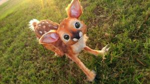 Handmade Poseable Baby Fawn by KaypeaCreations