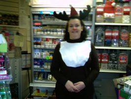 My mum the reindeer by well-pluck-my-goose