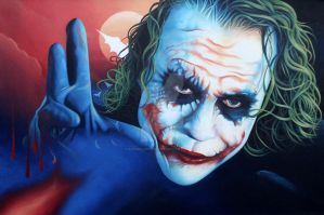 The Joker Heath Ledger by RachelGreenbank