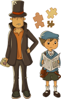 Layton and Luke by Dorinootje