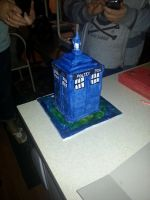 Tardis Cake by TheNightmareProject