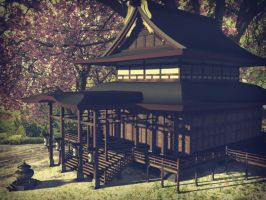 Japanese Temple by kago-woo