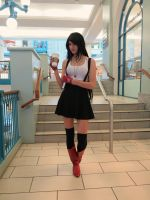 Tifa's a starbucks girl by douzocosplay