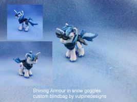 MLP FiM custom blindbag: Shining Armour in snowkit by vulpinedesigns