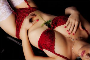 Red lingerie by colorful-beauties