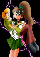 Sailor Jupiter and Shaggy by ZeFrenchM