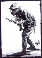 Cult Stuff WWI sketchcard 9 by RobertHack