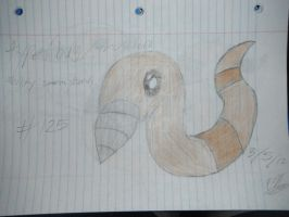 made up pokemon 125 sketch : dworm by sapphiredragon49