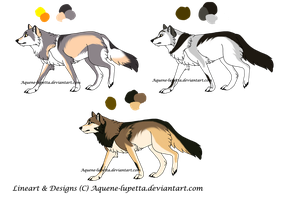 Customized wolves for Warrioryusen by Aquene-lupetta