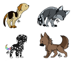 Puppy Adoptables by Kesdopts